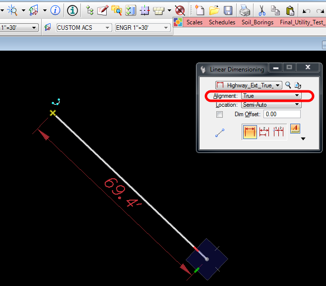 MICROSTATION-DIMENSIONING ALONG GEOMETRY AT A SKEW