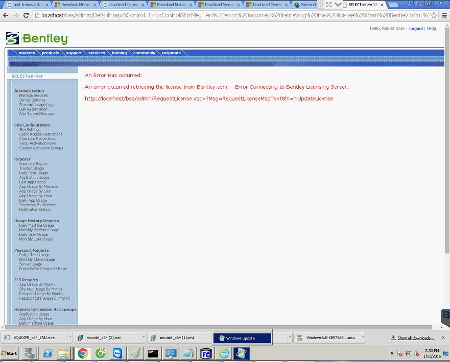 Selectserver bentley com site key generator