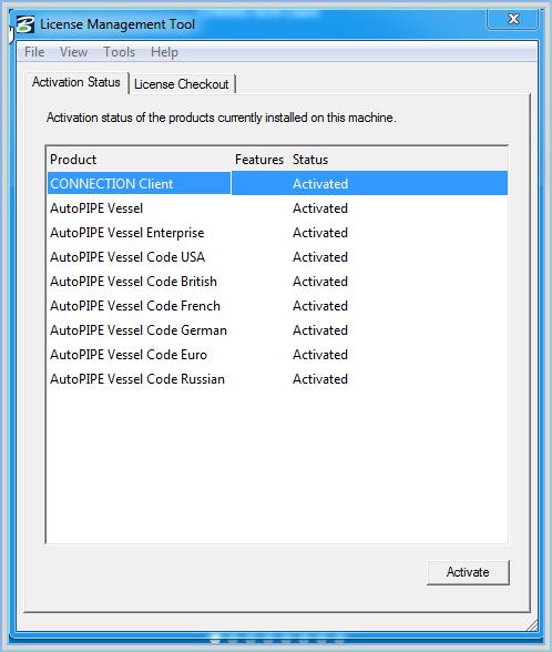 Q Review Autopipe Vessel License Using Lmt License