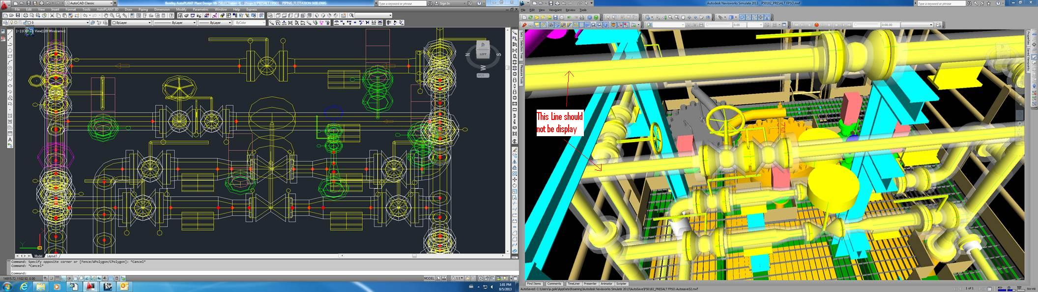 in autoplant 3d drawing these seam lines display in