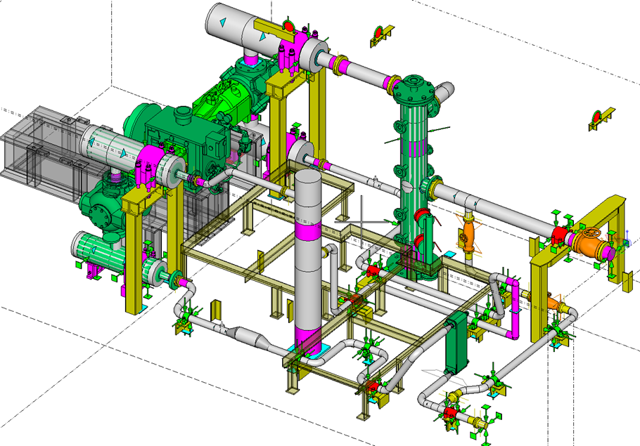 autopipe as a main tool for piping design    autocad as a
