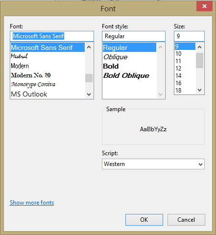 how to change font size in pdf text box